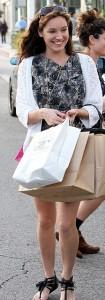 Келли Брук на шопинге