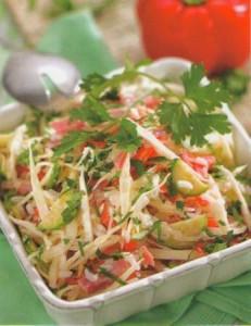 Рецепт салата из яблок и капусты