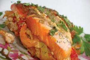На скорую руку: рыбное филе с сыром и лимоном